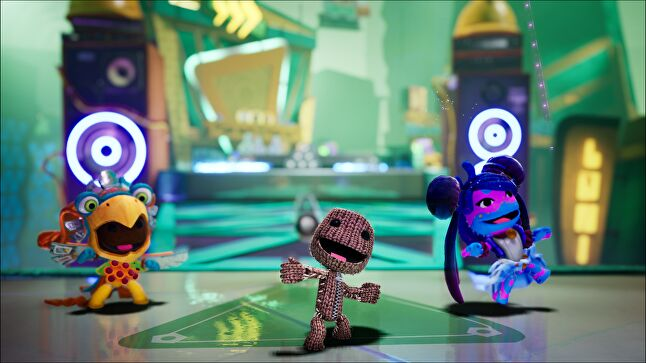 If stood still, Sackboy will start dancing to the beat of the music. Image captured in editor on PC