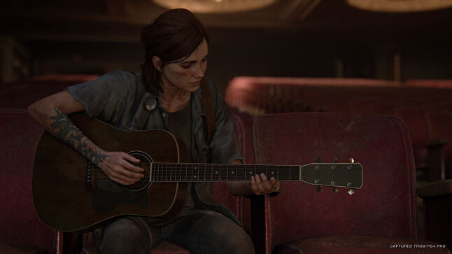 Ellie's guitar is used as a form of musical storytelling to support key narrative themes throughout The Last of Us: Part 2