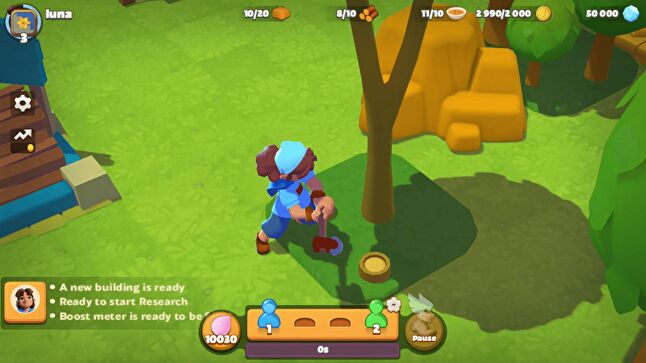 Players can see each other's actions in real-time in Everdale