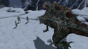 lost odyssey contains everything a good jrpg should including a pointy nosed stompy monster