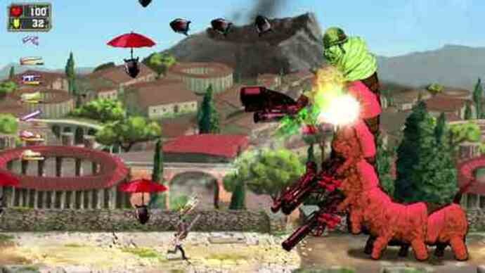 Serious Sam Double Dgameplay
