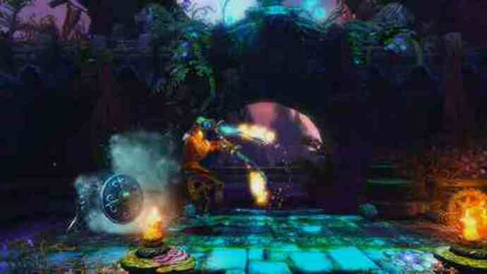 Trine 2 co-op gameplay footage