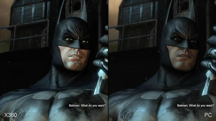 Batman: Arkham City 360/PC Face-Off video