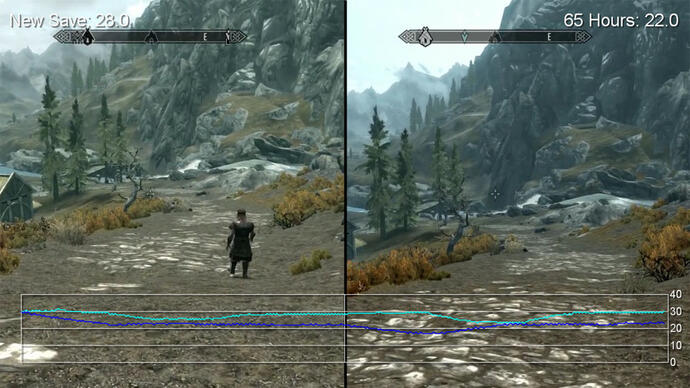 Skyrim PS3 2.03 Patch: New Game vs. 65 Hour Save