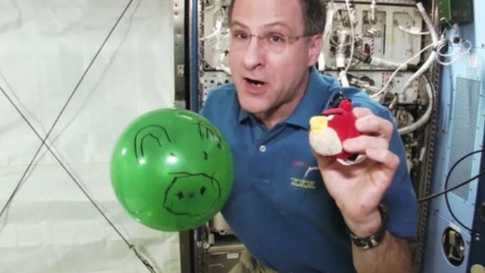 Angry Birds Space announced by NASA astronaut aboard ISS