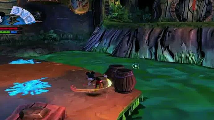 Epic Mickey 2 Fort Wasteland Gameplay
