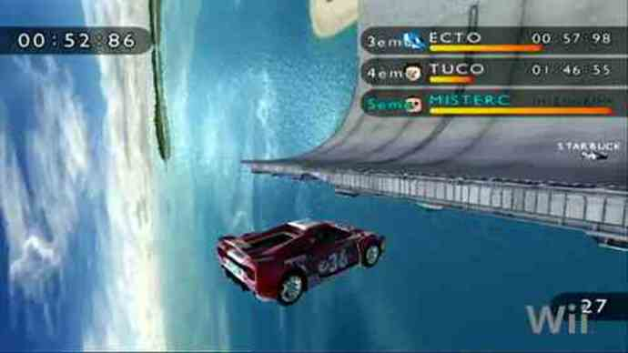 Trackmania Wii multiplayer trailer