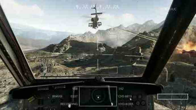 MOH chopper gameplay footage