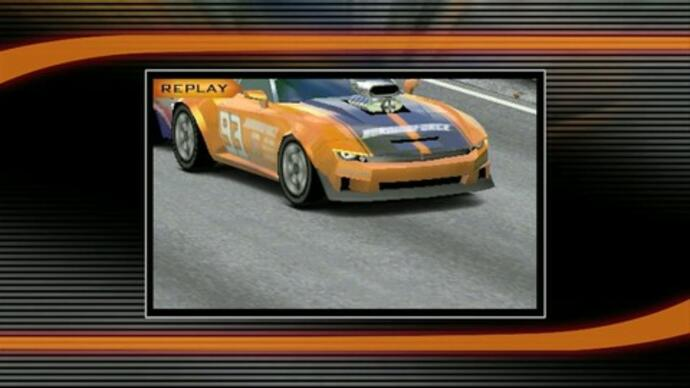 Goggle at Ridge Racer 3D gameplay