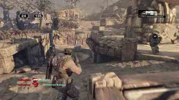 Gears 3 Beta's King of the Hill gameplay