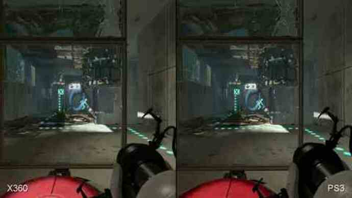 Portal 2 360/PS3 Face-Off Comparison