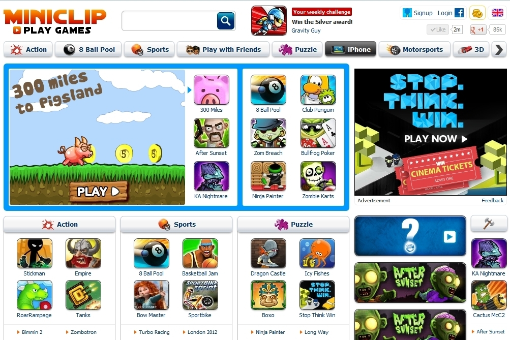 miniclip gamed