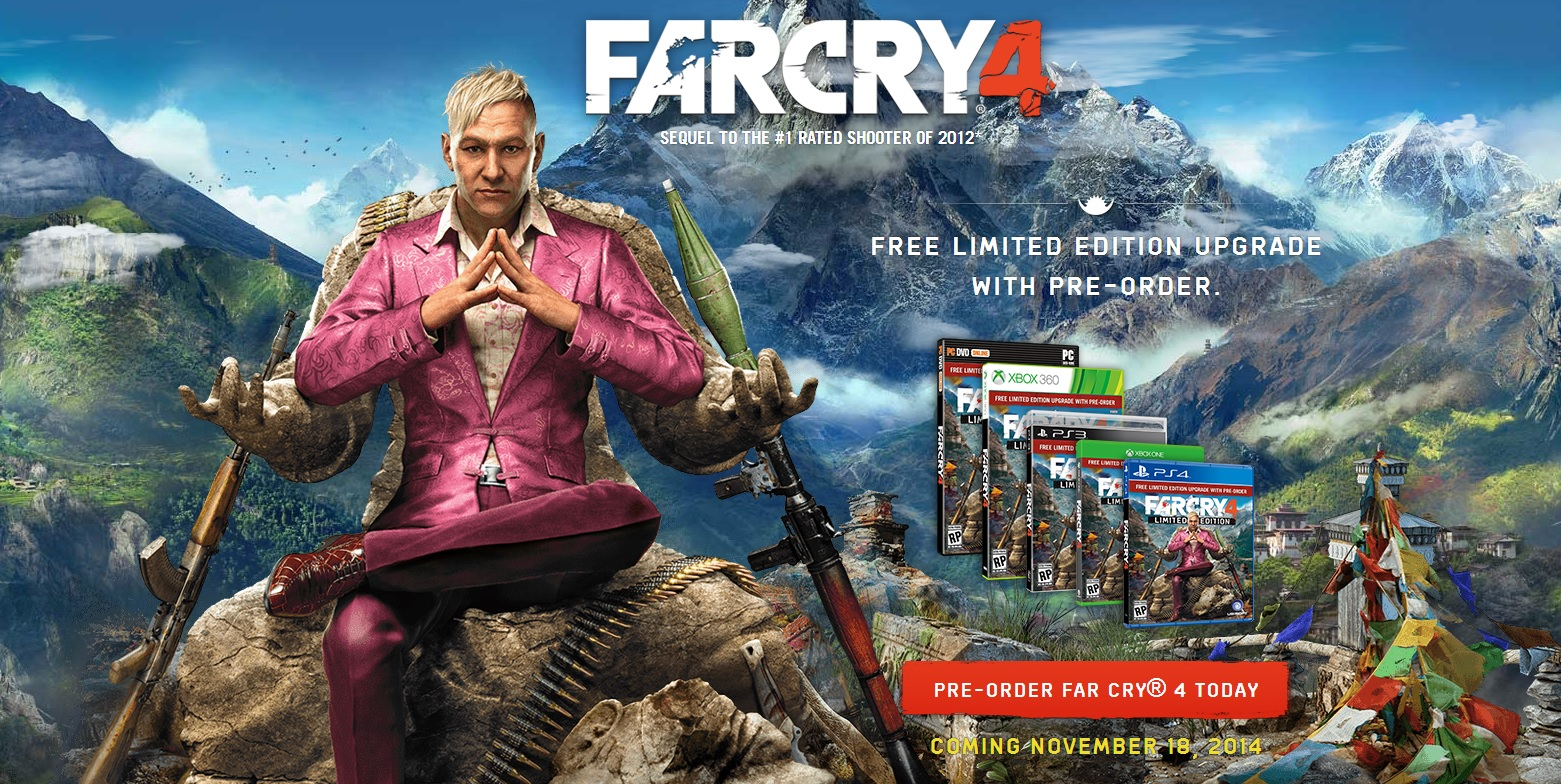 far cry 4 reveal controversy marketing mature themes. Black Bedroom Furniture Sets. Home Design Ideas