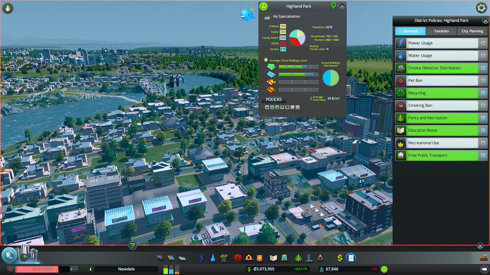 Cities skylines pc review laying a new foundation usgamer for Us city skylines photos