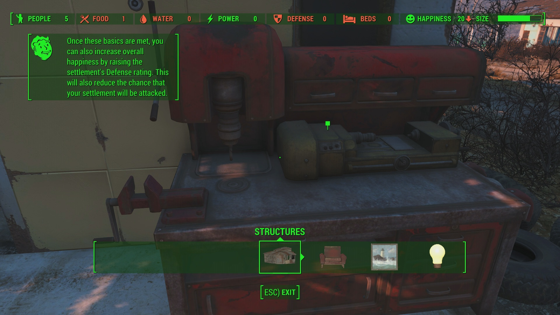 Fallout  How To Select All When Building
