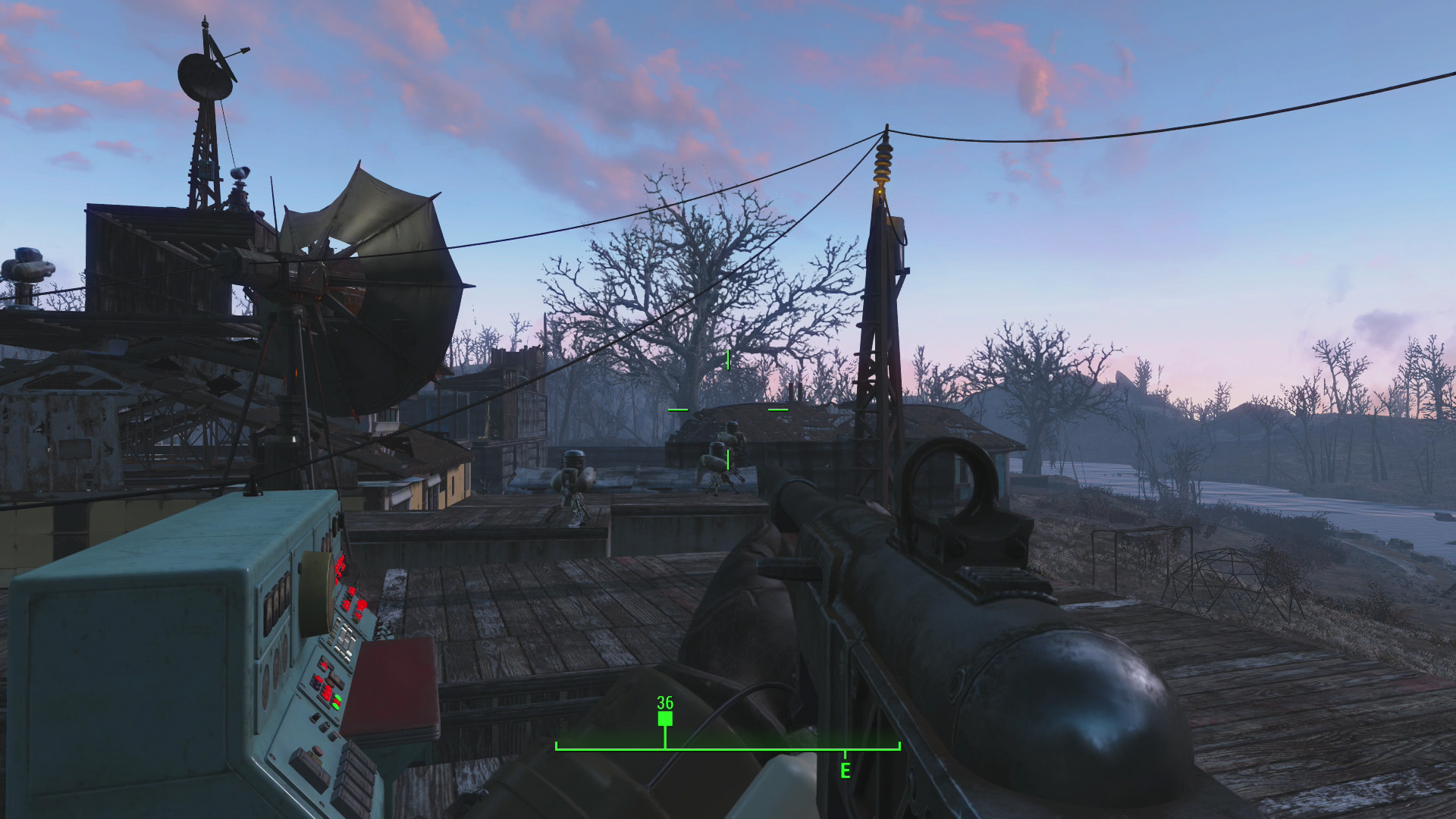fallout 4 how to run a wire to a generator