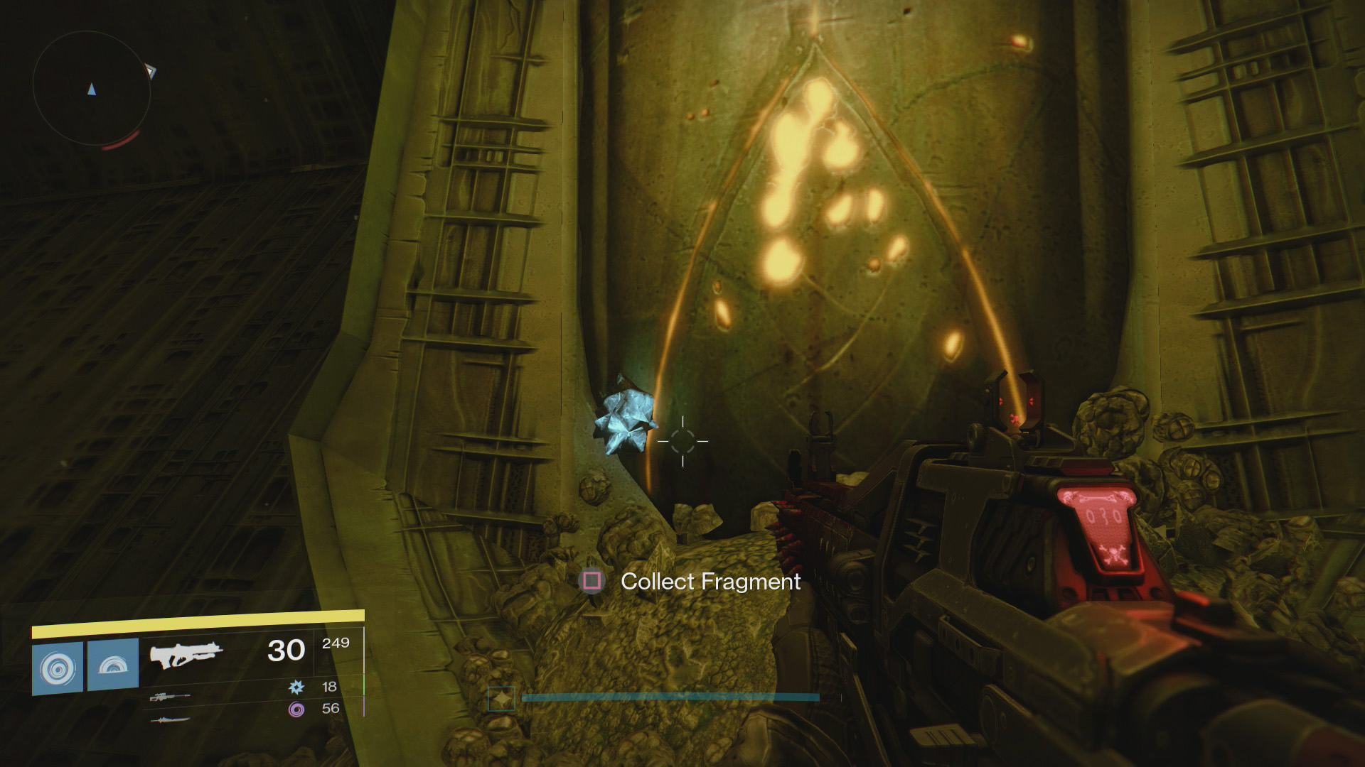 The Founts - Calcified Fragment 22: This Fragment is just around the corner from Fragment 21, so follow the same initial steps to get to this location.