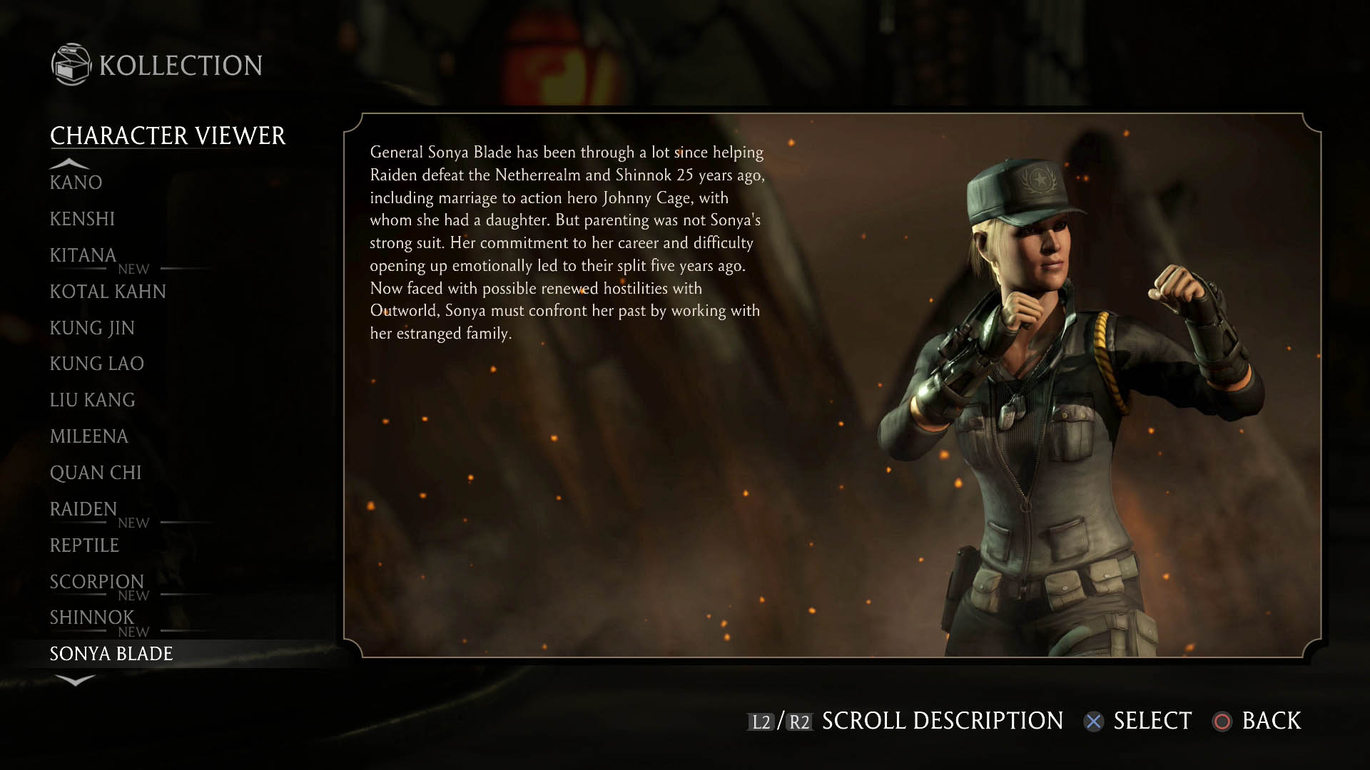 how to play sonya blade
