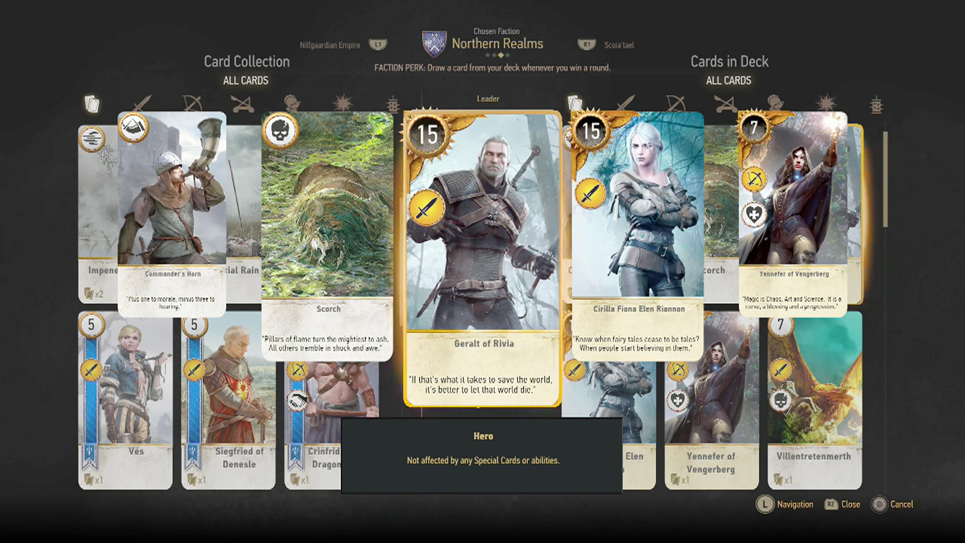 Gwent card locations the witcher 3 - Thaler Geralt Of Riva Card
