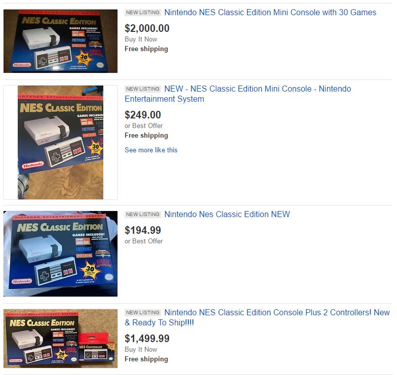 Image result for nes classic edition shortages