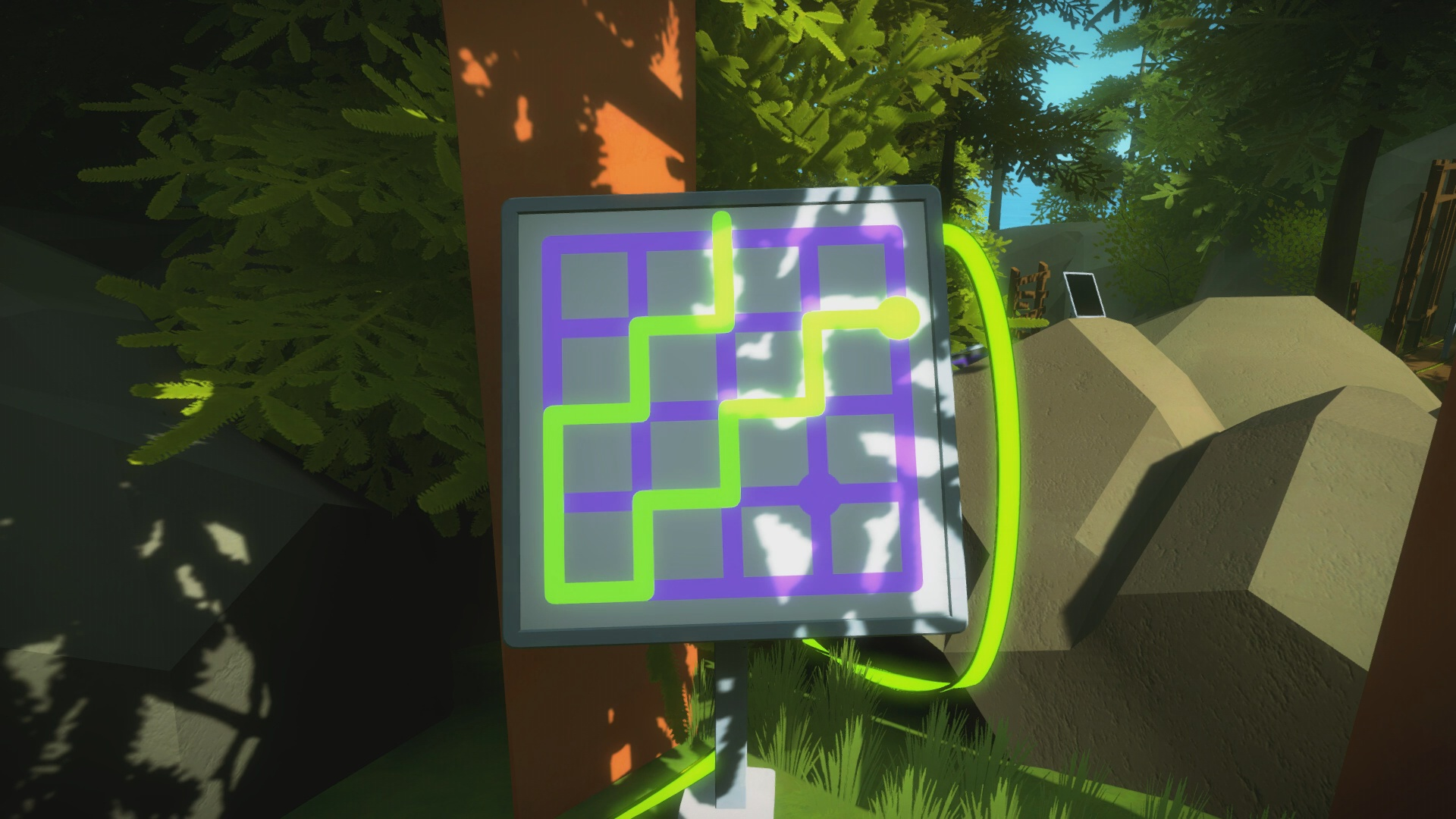 the witness the shady trees puzzle solution usgamer