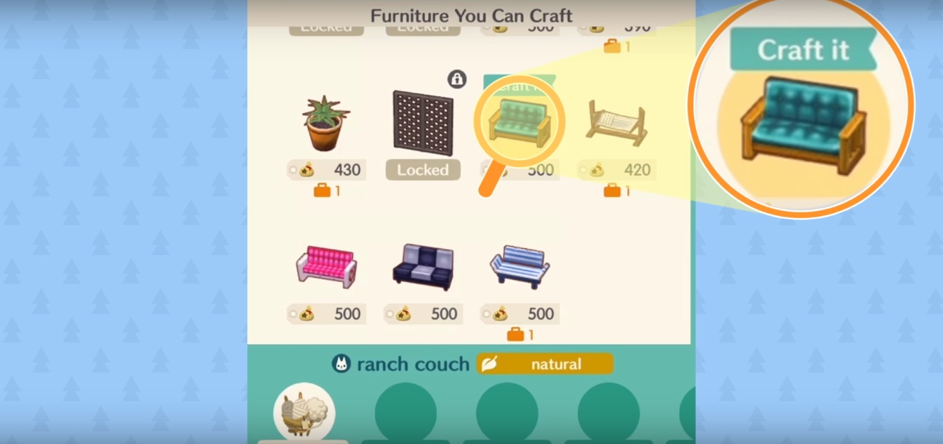 animal crossing pocket camp material guide