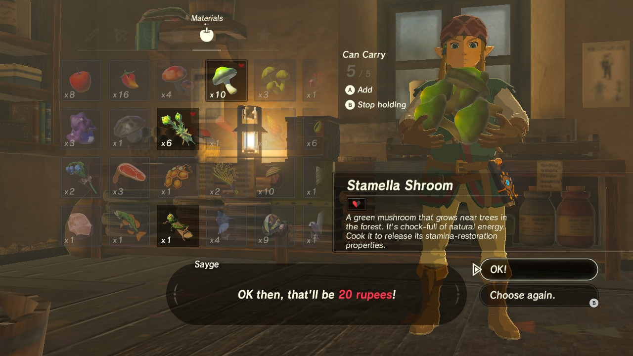 Zelda Breath Of The Wild How To Dye Clothes Essential