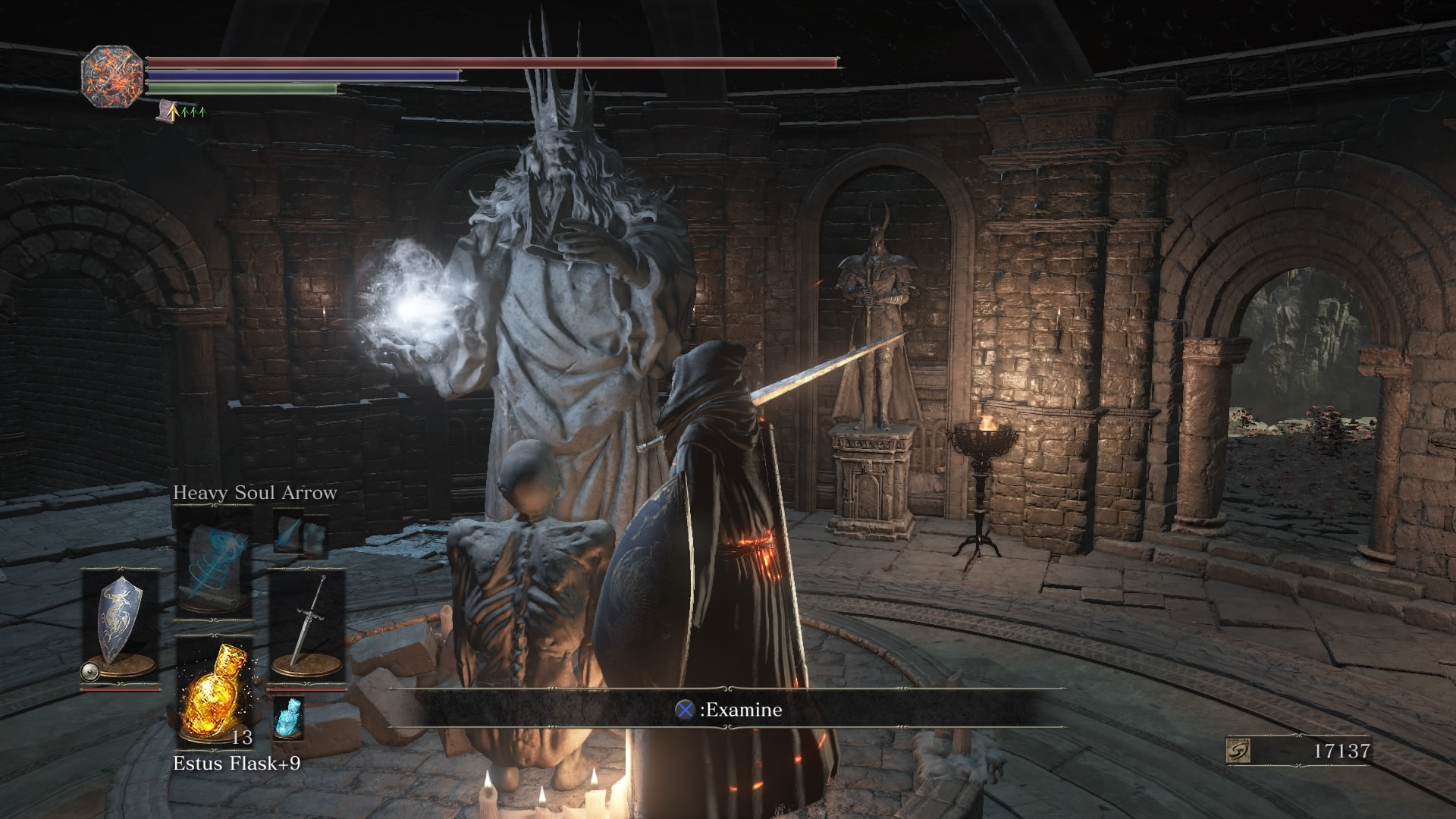 Ringed City Statue Serpent
