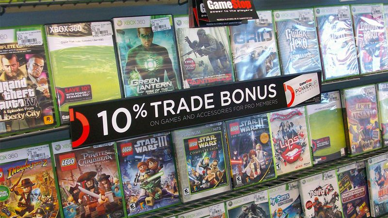 For now buying games at Game Stop requires old-fashioned monetary exchange