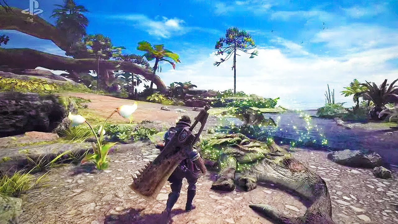 Monster Hunter World Explores Coral Highlands in New Gameplay Trailer
