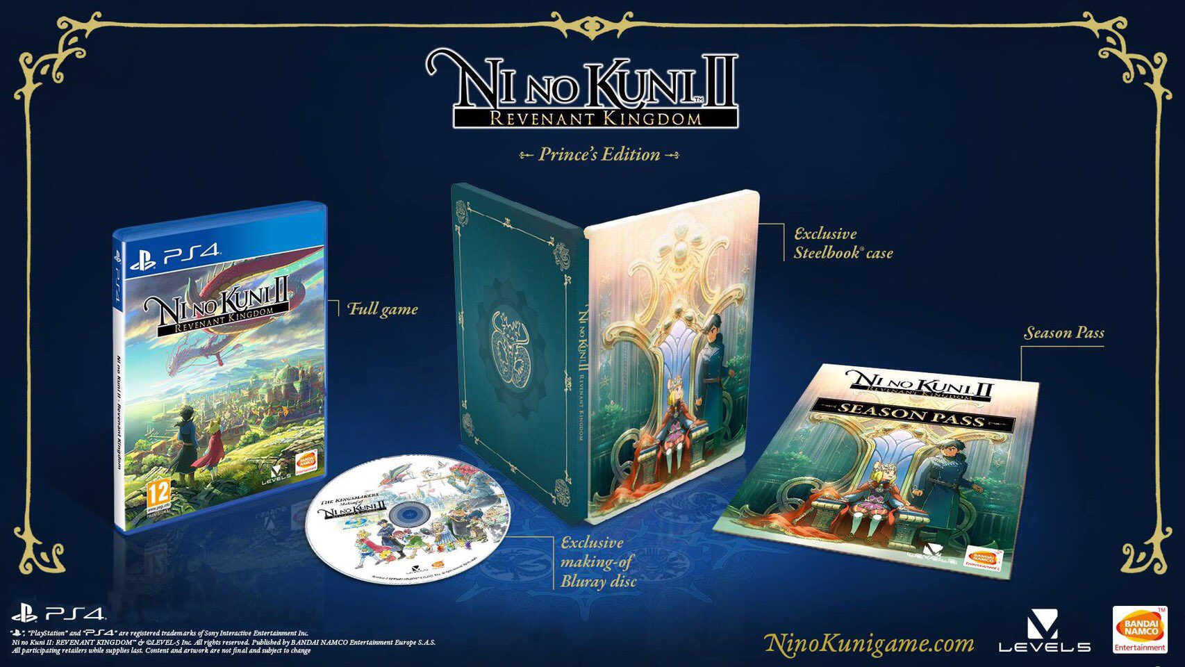 Kingly Collector's Editions Announced for Ni no Kuni II