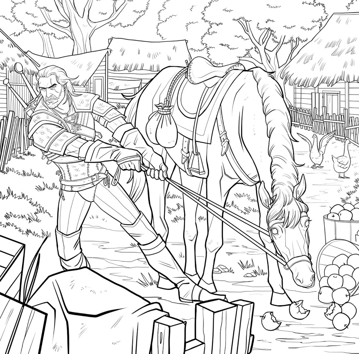 finally the witcher gets its own coloring book complete with bath