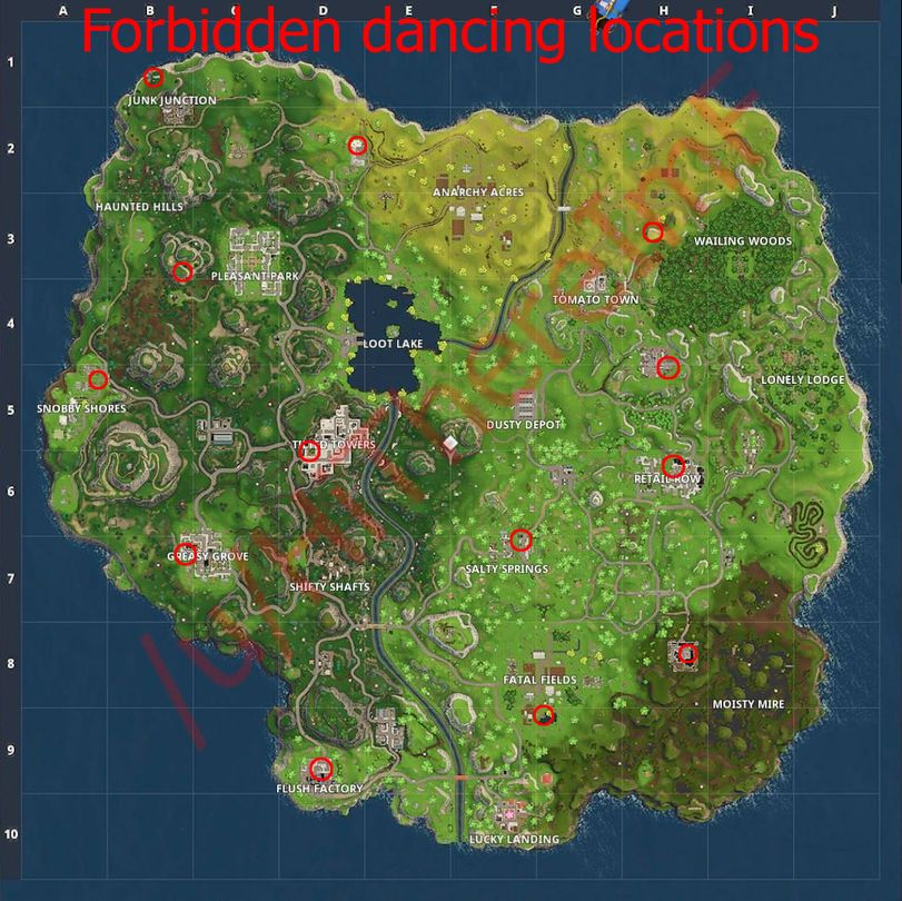 Fortnite Forbidden Dancing Locations Guide Metabomb