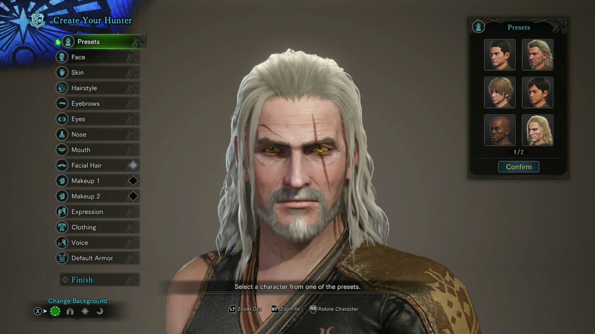 Here 39 s how to make the witcher 3 39 s geralt of rivia in for Decorations monster hunter world