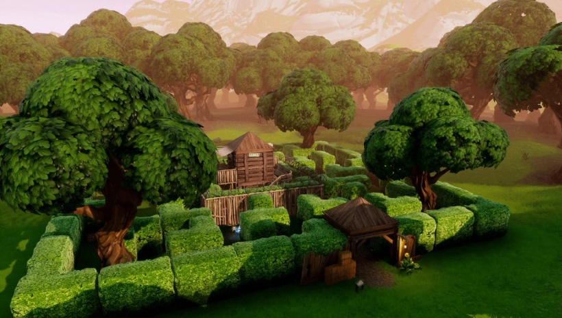 Fortnite Shooting Gallery Locations Wailing Woods Retail Row